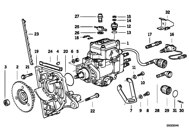 original parts for e36 325td m51 sedan    fuel preparation