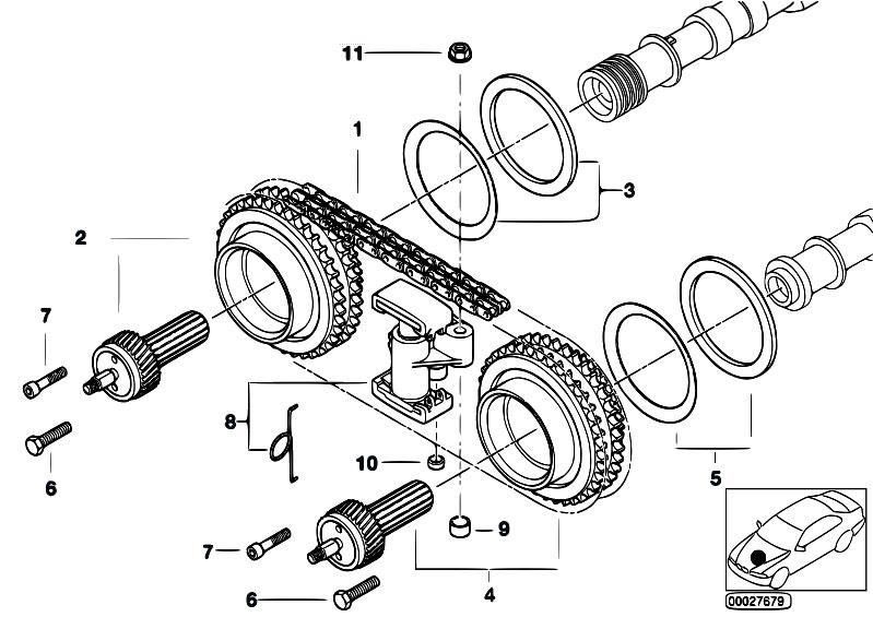 original parts for e39 m5 s62 sedan engine timing gear. Black Bedroom Furniture Sets. Home Design Ideas