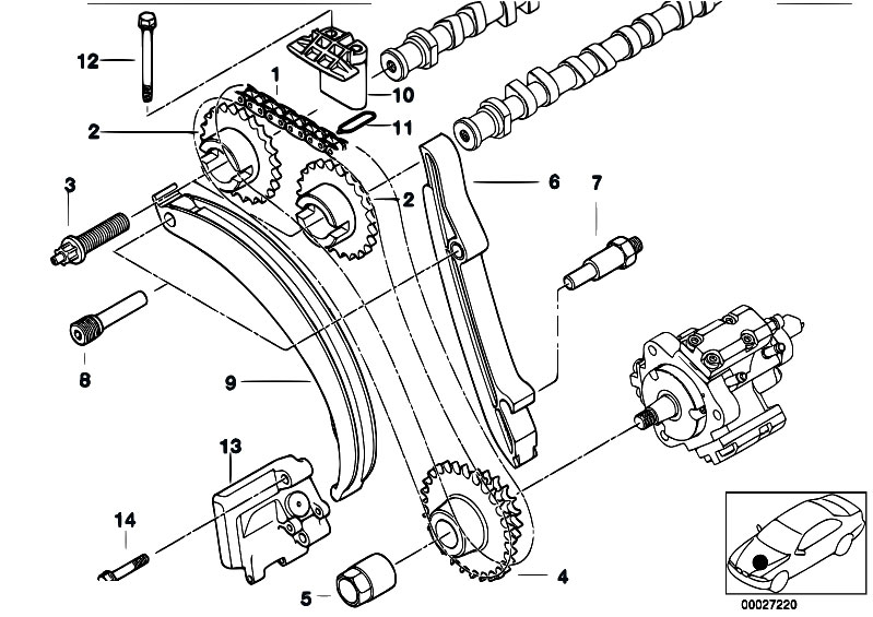 Timing Gear Timing Chain Top on bmw 325i vacuum diagram