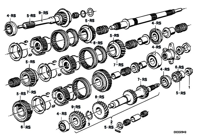 original parts for e21 318i m10 sedan    manual transmission   getrag 245 10 11gear wh set parts r