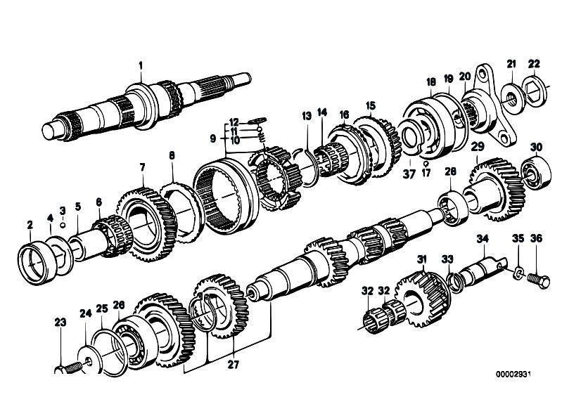 original parts for e34 m5 s38 touring    manual transmission   getrag 280 gear wheel set single