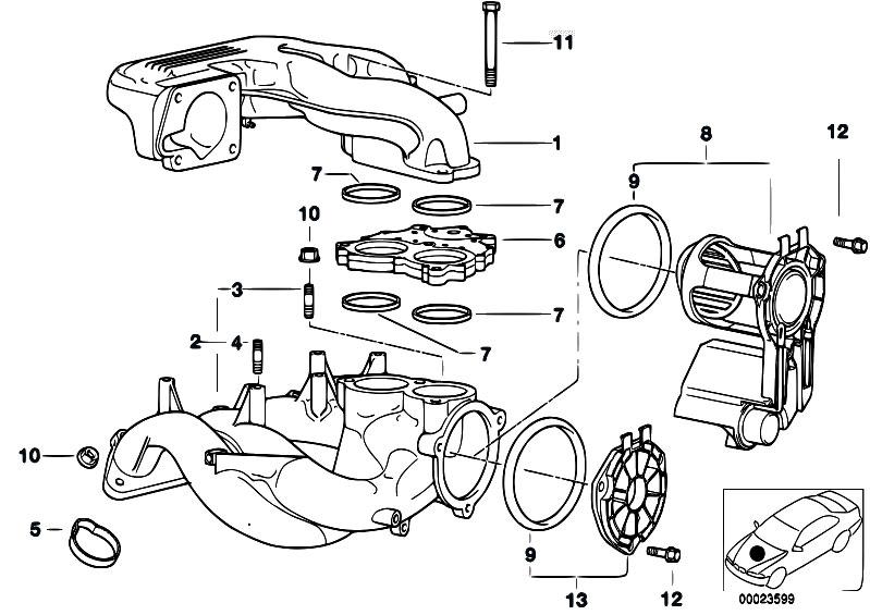 Original Parts For E46 316i 1 9 M43 Sedan    Engine   Intake