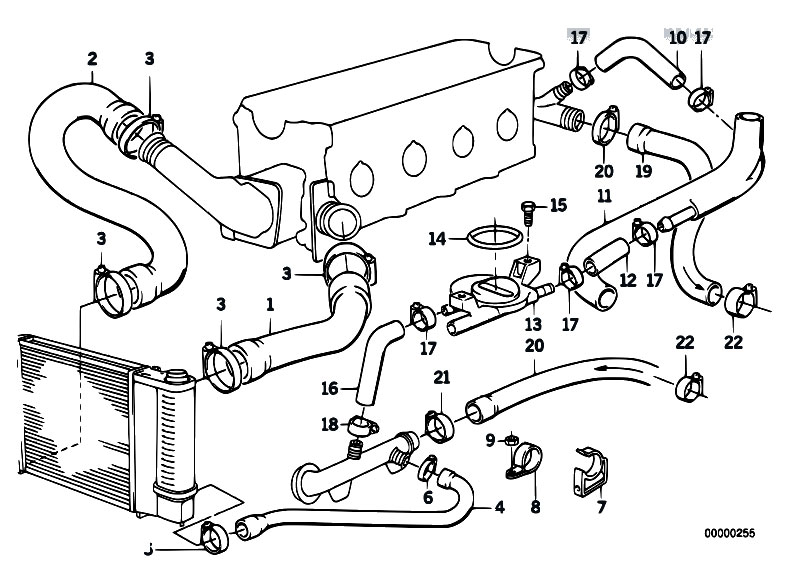 Cooling System Water Hoses on bmw m44 engine diagram