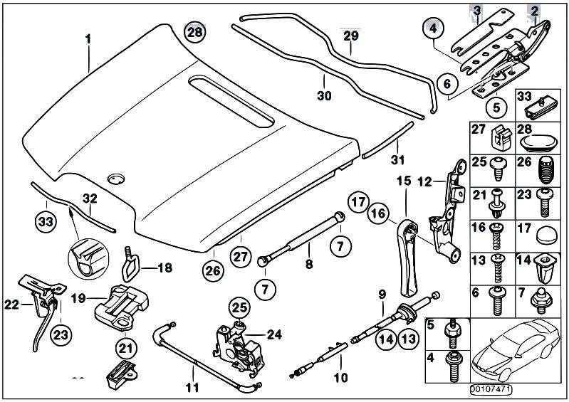 Original Parts For E66 735li N62 Sedan Bodywork Engine Hood