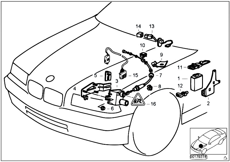 bmw cruise control diagram original parts for e36 316i 1.9 m43 compact / distance ... pontiac cruise control diagram #9