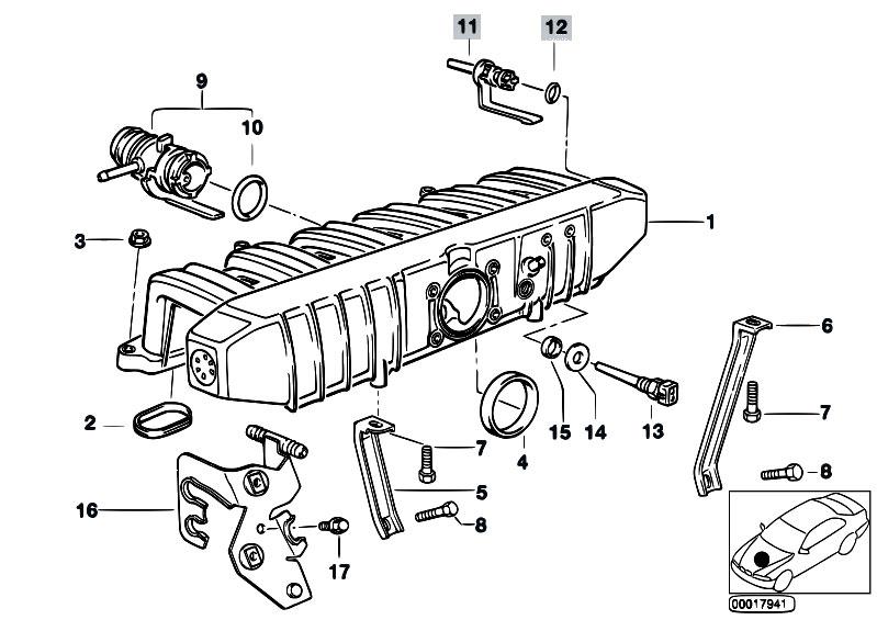 Original Parts For E34 520i M50 Touring Engine Intake Manifold