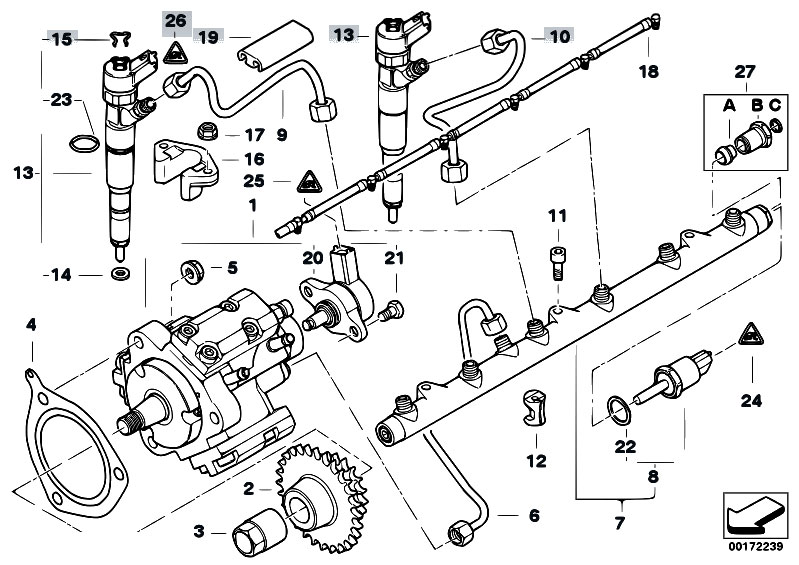Original Parts For E39 525d M57 Touring    Fuel Preparation System   Fuel Inject Syst Diesel High