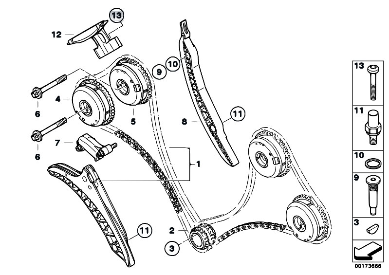 Original Parts For F01 750i N63 Sedan    Engine   Timing