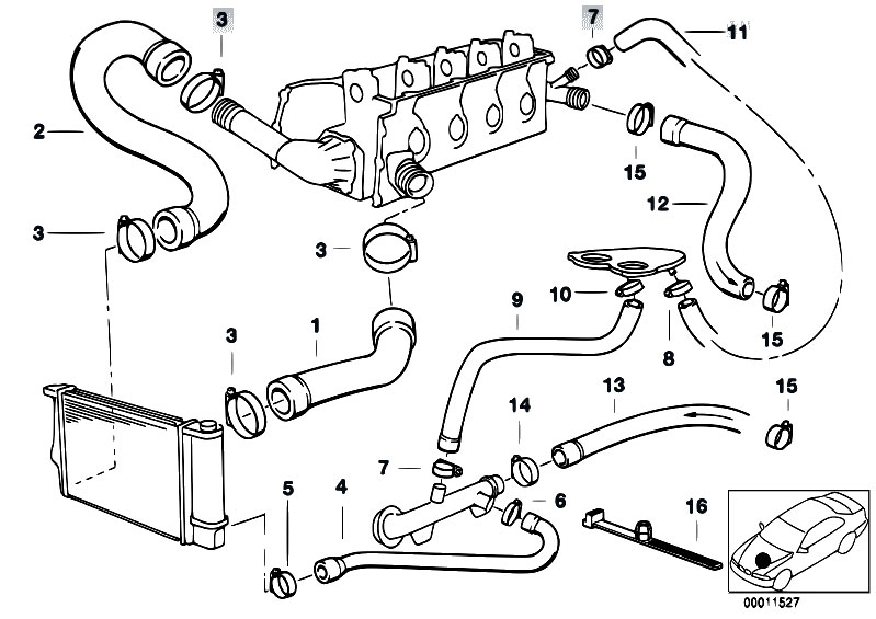 bmw e36 cooling system diagram  bmw  free engine image for