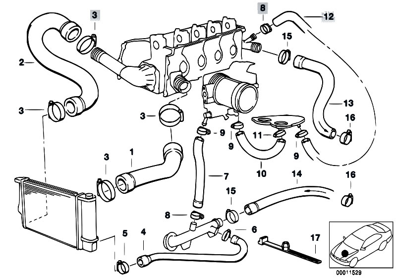 22r engine cooling system diagram bmw engine cooling system diagram original parts for e36 316i 1.6 m43 compact / engine ... #3