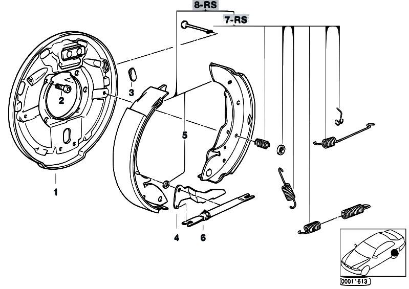 Original Parts For E36 316i M40 Sedan    Brakes   Drum Brake