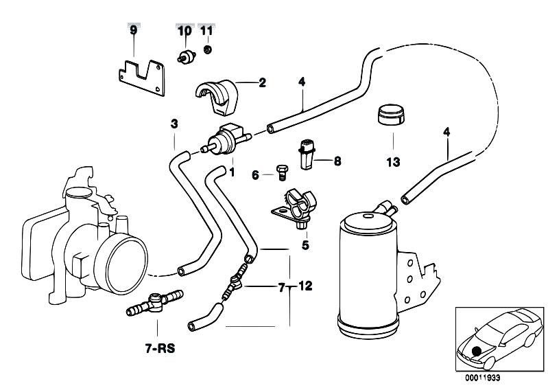 Original Parts For E36 M3 S50 Cabrio Fuel Preparation