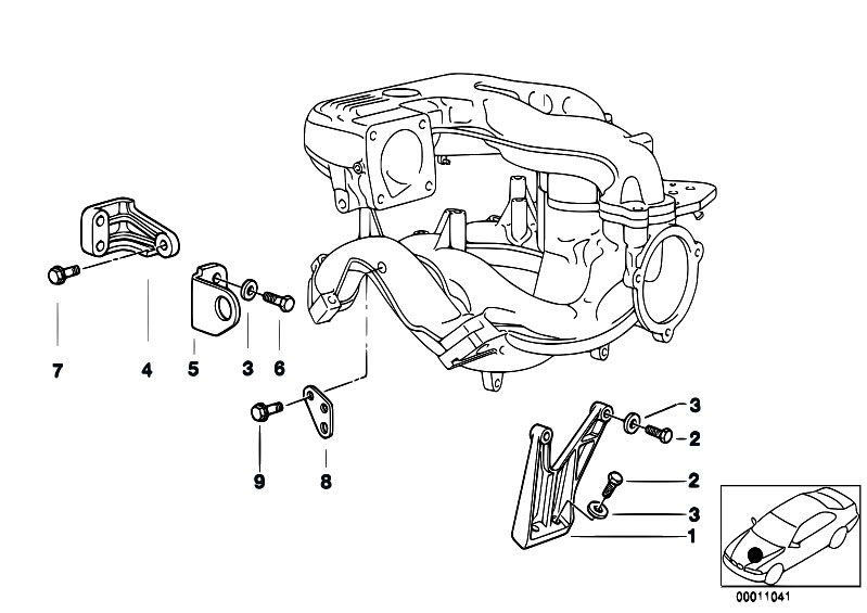 Mounting Parts F Intake Manifold System: E36 BMW M43 Engine Diagram At Galaxydownloads.co
