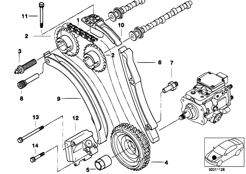 Timing Gear Timing Chain Top on 2000 bmw 323i engine diagram