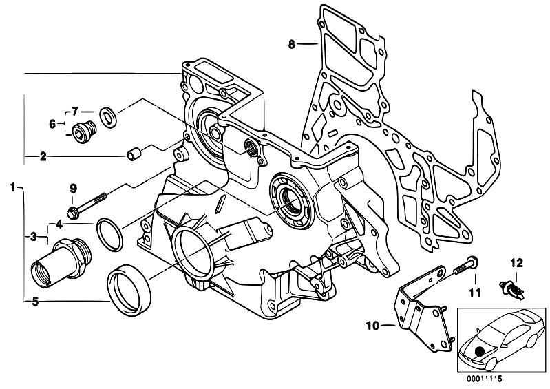original parts for e46 320d m47 sedan    engine   lower