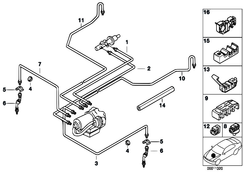 camaro brake line diagram original parts for e36 318ti m44 compact / brakes/ brake ...