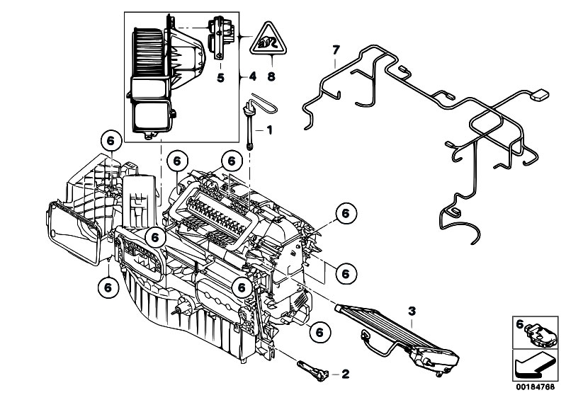 2001 mazda tribute engine diagram air vaccum original parts for e71 x6 30dx m57n2 sac / heater and air ...