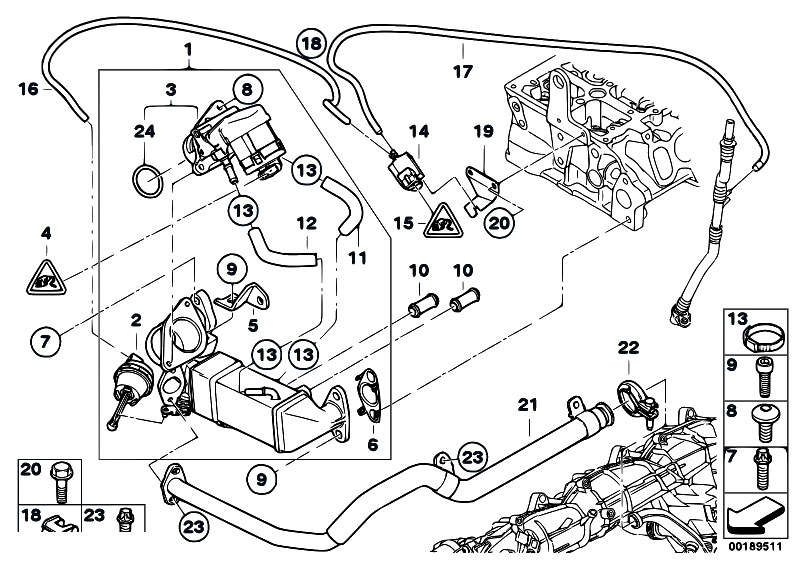 Original Parts For E92 330d N57 Coupe    Engine   Emission
