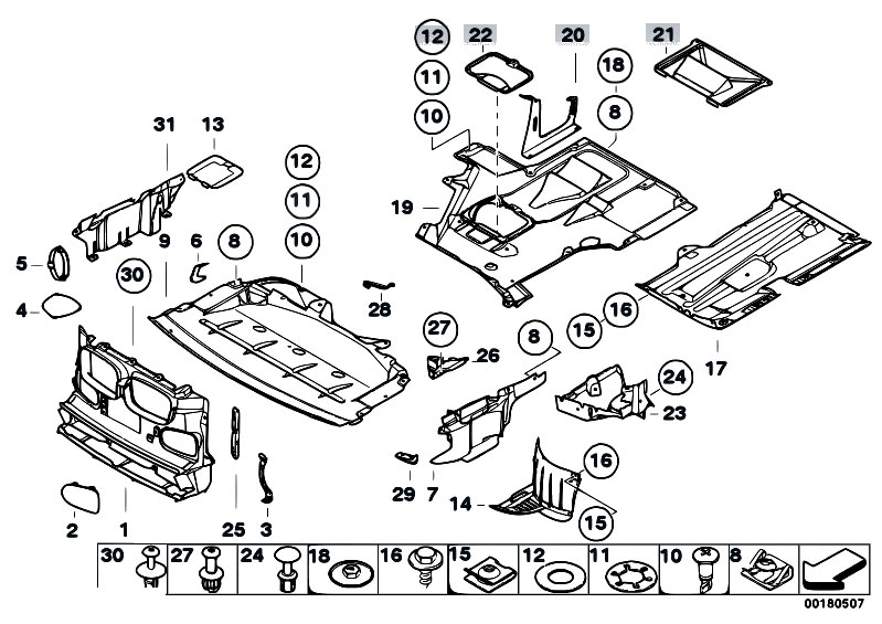 Original Parts For E39 540i M62 Sedan    Vehicle Trim   Air Duct