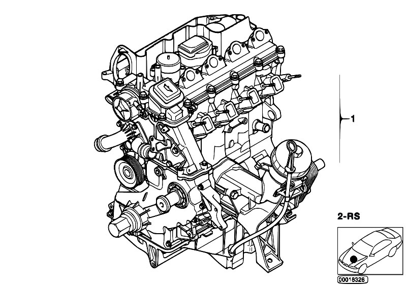Original Parts For E46 320d M47n Touring    Engine   Short Engine