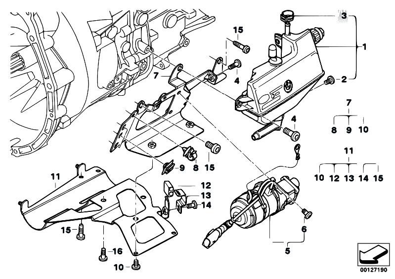 original parts for e46 330ci m54 coupe    manual transmission   gs5s31bz smg expansion tank pump