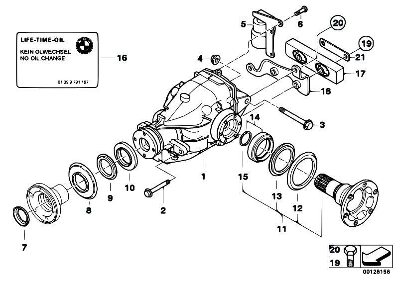 Original Parts For E46 330d M57 Touring Rear Axle