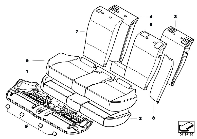 original parts for e83n x3 3 0si n52n sav    seats   through