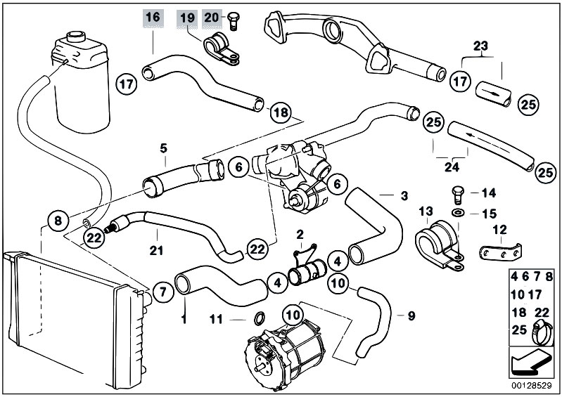 bmw e30 engine diagram 327e original parts for e38 750ils m73 sedan / engine/ cooling ... #12