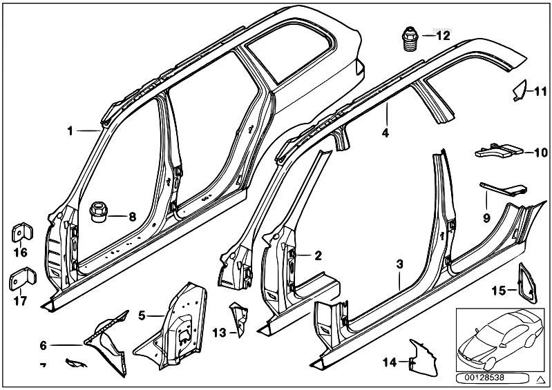 Original Parts For E39 520d M47 Touring    Bodywork   Body