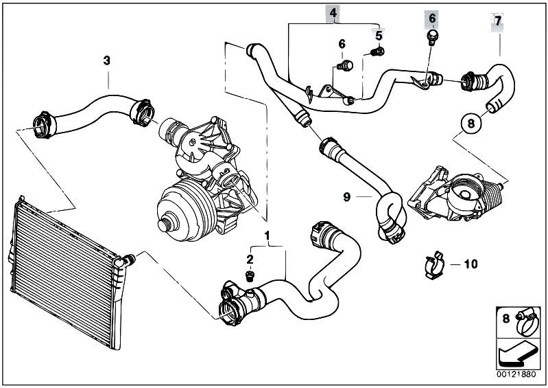 Original Parts for E53 X5    3   0d M57N SAV  Engine    Cooling
