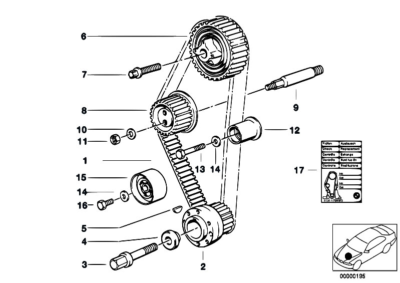 Original Parts For E30 318i M40 2 Doors    Engine   Timing