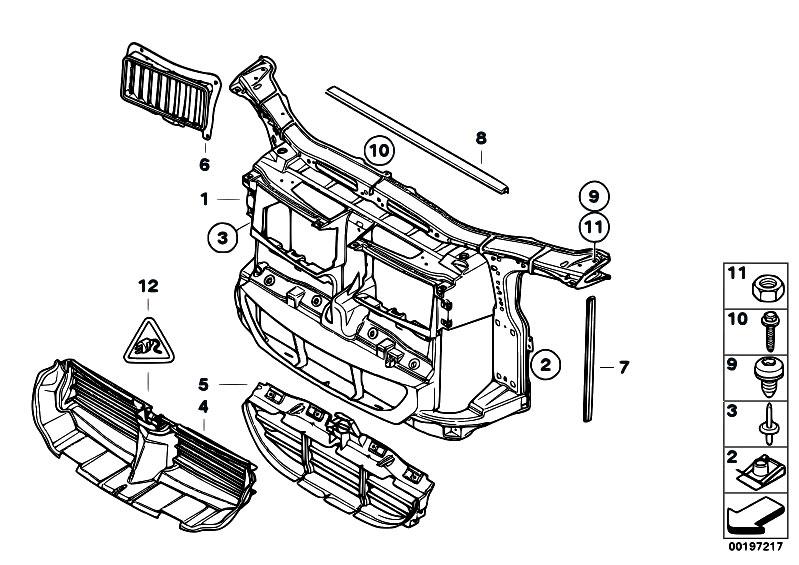 Original Parts For E90 330d M57n2 Sedan    Vehicle Trim   Front Panel Cooling Flap Control