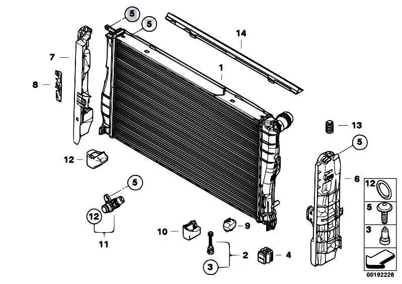Original Parts For E93 335i N54 Cabrio    Radiator