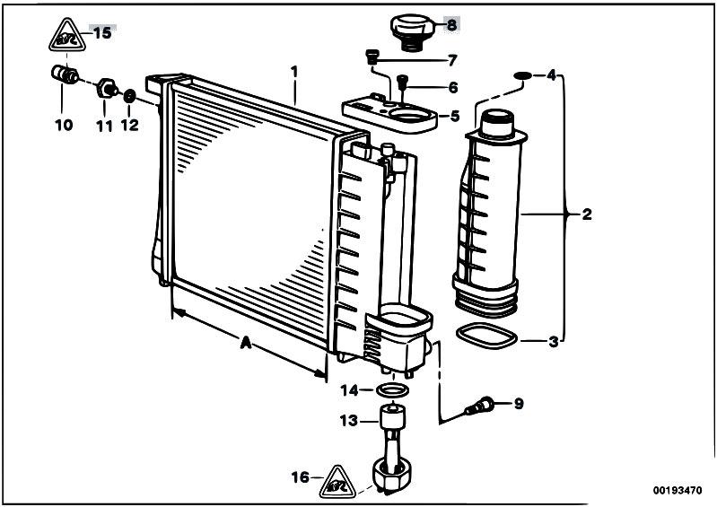 Original Parts for E36    318ti    M42 Compact     Radiator