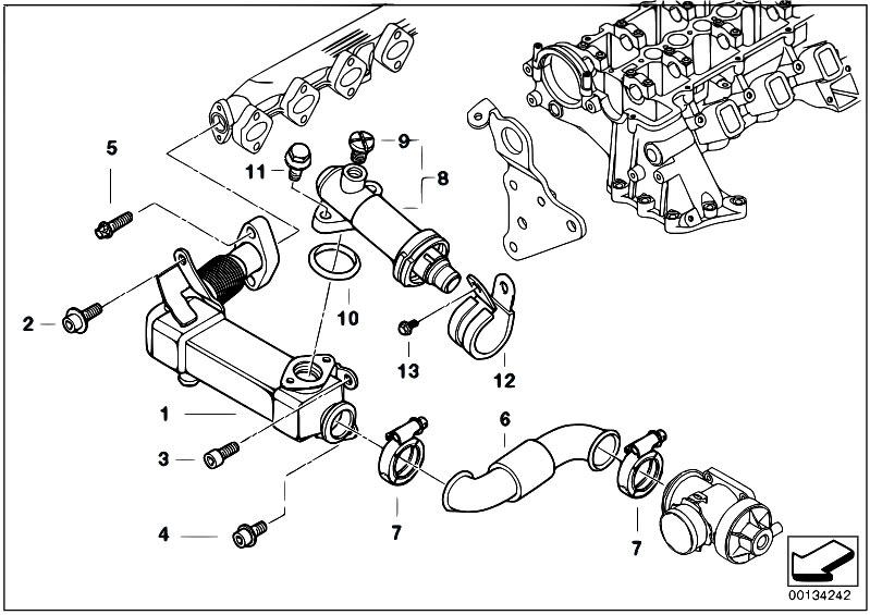 Original Parts For E83n X3 2 0d M47n2 Sav    Engine   Emission Reduction Cooling