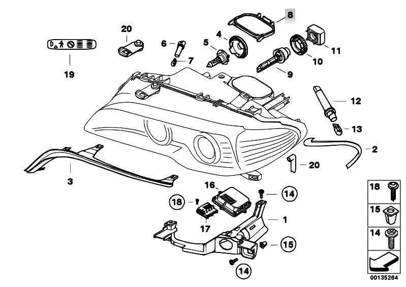 original parts for e46 m3 s54 coupe    lighting   single