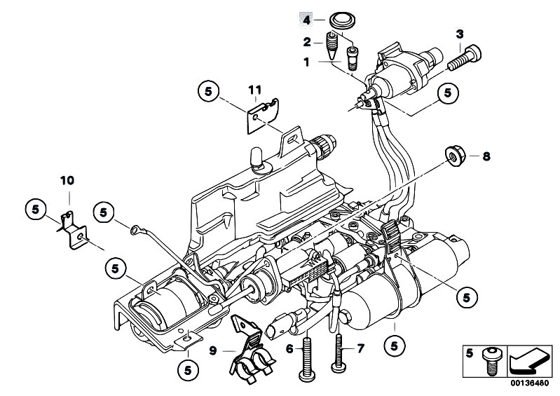 Original Parts For E46 330ci M54 Coupe    Manual Transmission   Gs6s37bz Smg Hydraulic Mounting