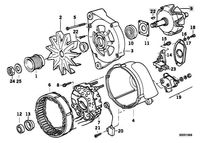 alternator parts diagram ponents  alternator  free engine