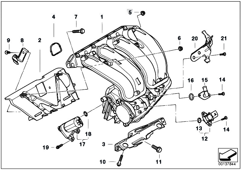 Original Parts For E90 320i N46 Sedan    Engine   Intake