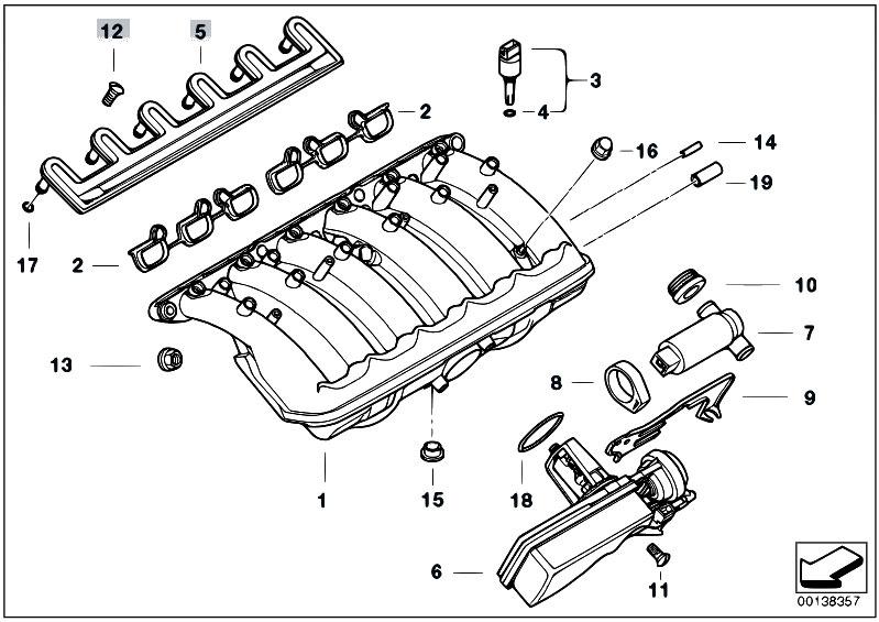 original parts for e39 520i m52 touring engine intake manifold system 2 estore central
