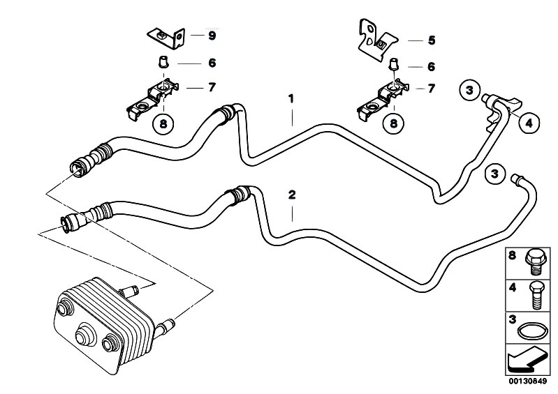 Bmw 325i Cooling System Parts on 2006 bmw 525i engine parts diagram