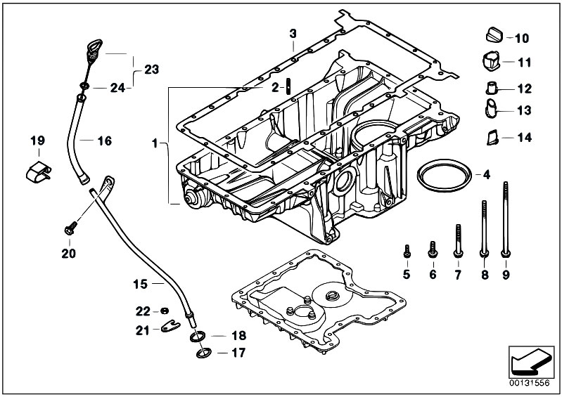 bmw x5 parts diagram with Oil Pan Upper Part Oil Level Indicator on Wds Bmw Wiring System Diagram as well Engine Diagram Of 2008 Bmw 328i further 6wru2 Bmw 530i Hi 2001 Bmw 530i Check Engine Light further T16824p20 Bmw E39 530d M57 An 1999 Remontee D Huile Dans Circuit Refroidissement Resolu additionally P 0996b43f80cb1e11.