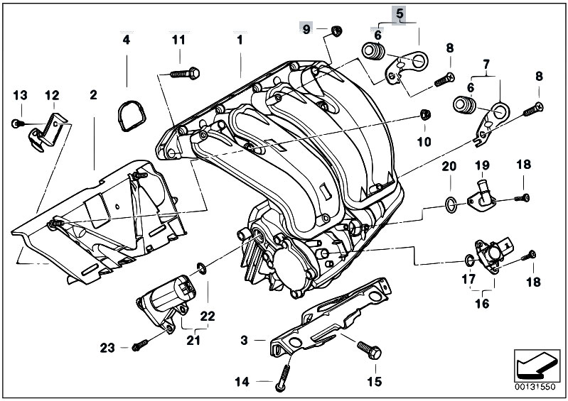 original parts for e46 316ti n46 compact    engine   intake manifold system
