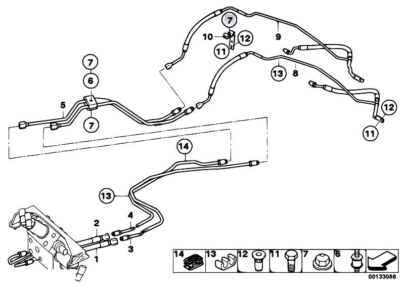Original Parts For E60 545i N62 Sedan    Rear Axle   Add On