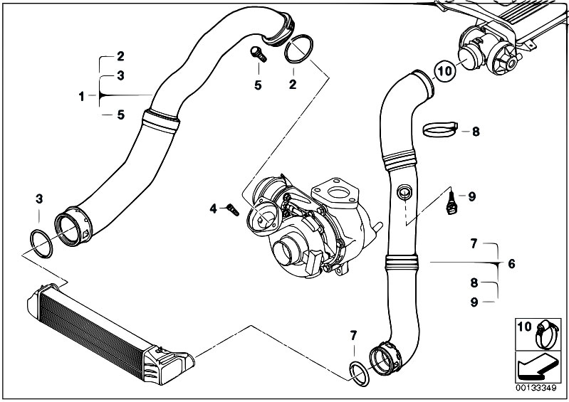 original parts for e46 320td m47n compact engine intake. Black Bedroom Furniture Sets. Home Design Ideas