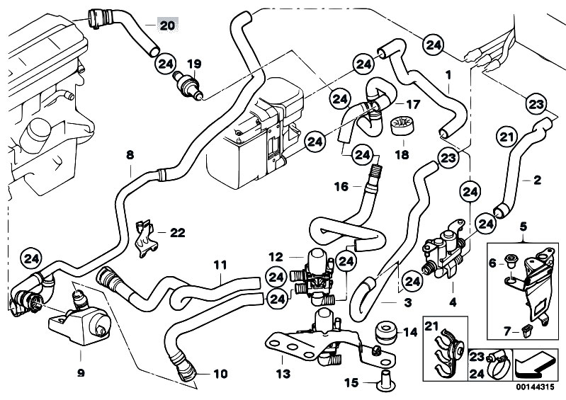 Independ Heating Water Valves Ihka on 2003 Bmw 325i Vacuum Hose Diagram