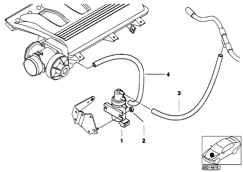 Vacuum Control Agr on 2003 Bmw 325i Vacuum Hose Diagram