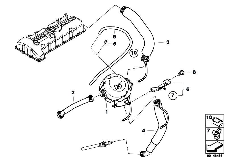 Original Parts For E60 530xi N52 Sedan    Engine   Crankcase