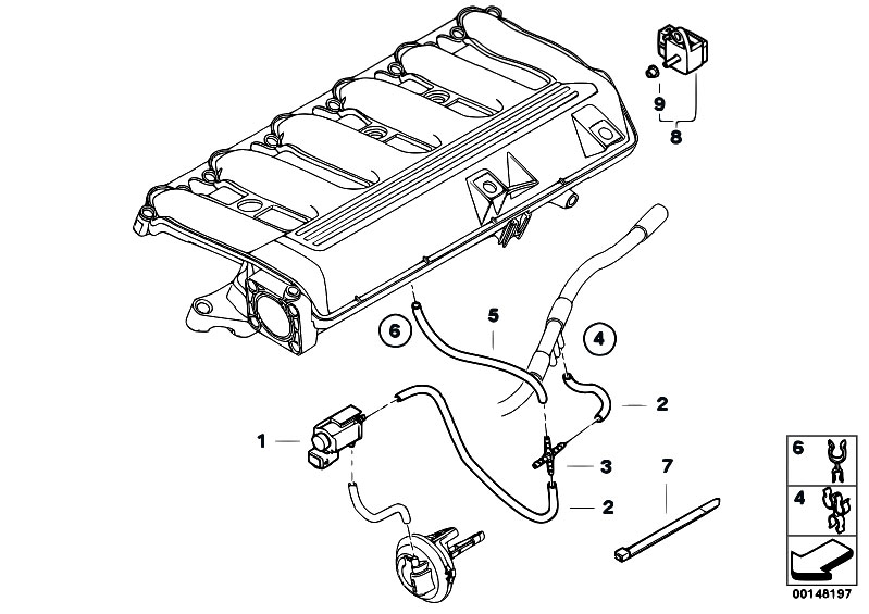 Intake Manifold Vacuum Control on bmw 325i engine parts diagram