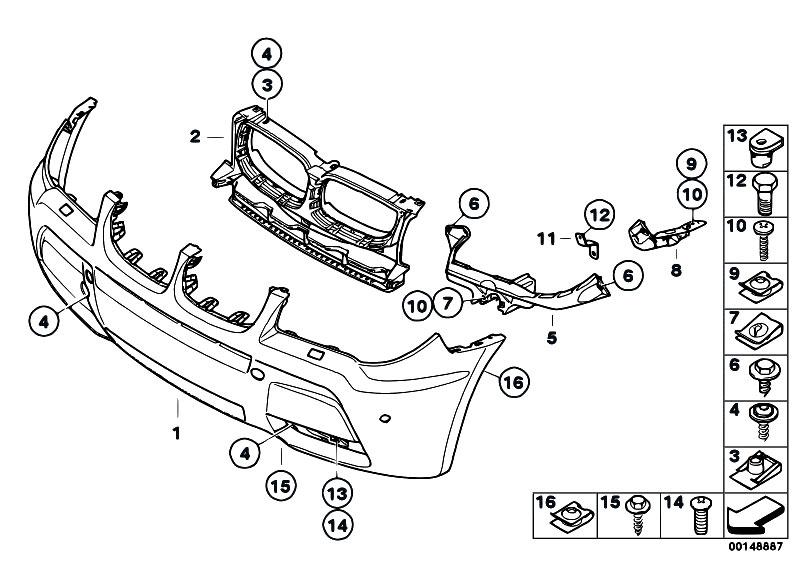 Original Parts For E83 X3 2 0d M47n2 Sav    Vehicle Trim   M Front Bumper Trim Panel